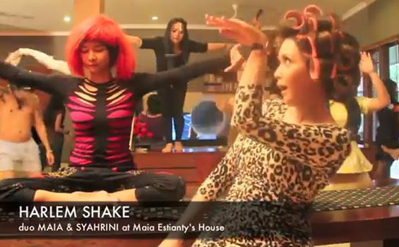 Video Duo Maia-Syahrini ber- Harlem Shake